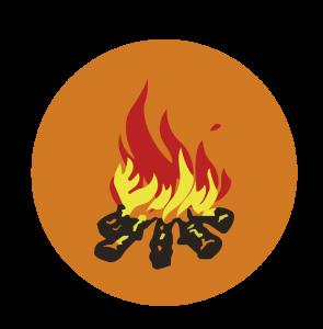 Emblema Pioneros y Fuegos