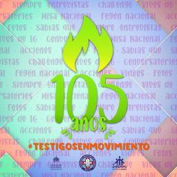 Celebrando  los 105 años desde los Patios virtuales
