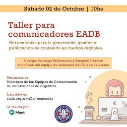 Taller para comunicadores EADB